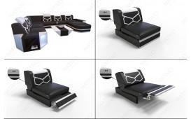 Designer Sofa AVENTADOR CORNER XL mit LED Beleuchtung NATIVO™ Möbel Schweiz