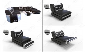 Designer Sofa AVENTADOR CORNER mit LED Beleuchtung NATIVO™ Möbel Schweiz