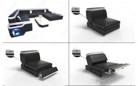 Designer Sofa CESARO XXL mit LED Beleuchtung NATIVO™ Möbel Schweiz
