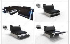 Designer Sofa IMPERIAL CORNER mit LED Beleuchtung NATIVO™ Möbel Schweiz