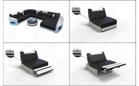 Canapé Design ATLANTIS 3+2+1 avec éclairage LED