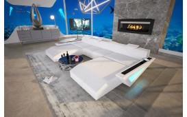 Divano di design FALCO XXL DUO con illuminazione a LED e presa USB