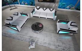 Divano di design FALCO 3+2+1 con illuminazione a LED e presa USB