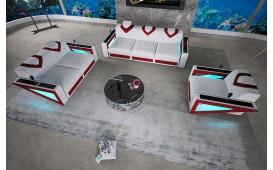 Designer Sofa FALCO 3+2+1 mit LED Beleuchtung & USB Anschluss NATIVO™ Möbel Schweiz