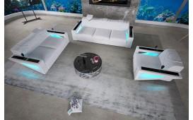Canapé Design FALCO 3+2+1 avec éclairage LED & port USB
