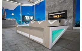 Divano di design a 3 posti FALCO con illuminazione a LED e presa USB