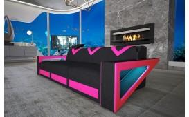 Canapé Design 3 places FALCO avec éclairage LED & port USB