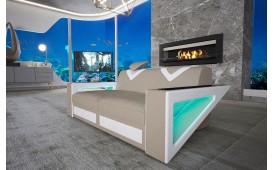 Divano di design  a 2 posti  FALCO con illuminazione a LED e presa USB