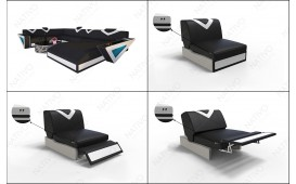 Sessel FALCO mit LED Beleuchtung & USB Anschluss NATIVO™ Möbel Schweiz