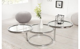 Table d'appoint Design TRIO SILVER