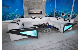 Designer Sofa NEMESIS CORNER U FORM mit LED Beleuchtung & USB Anschluss NATIVO™ Möbel Schweiz