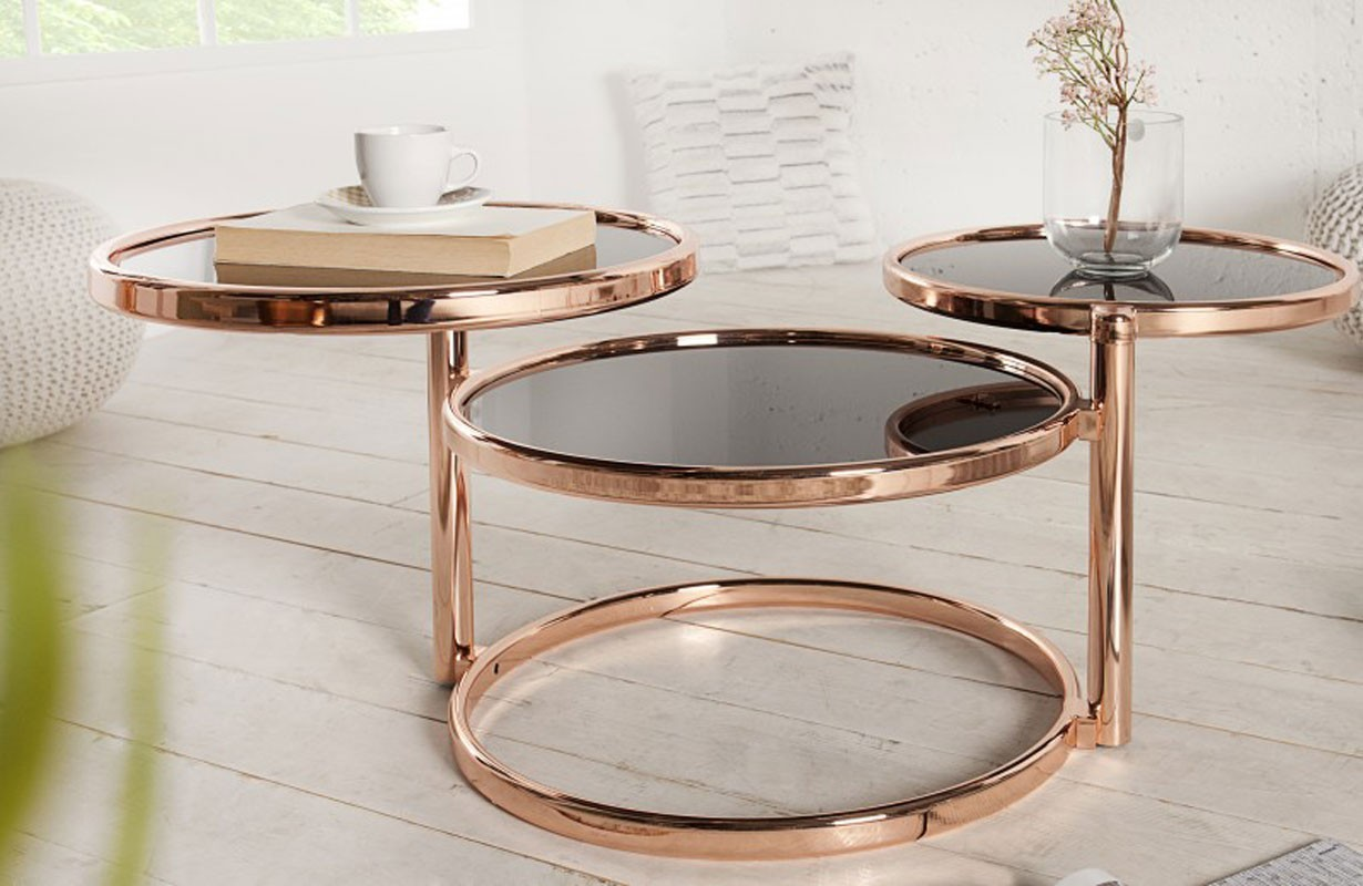 Meubles salon nativo table d 39 appoint trio bronze - Table d appoint design ...
