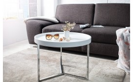 Table basse Design BIG ROND WHITE EN STOCK