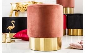 Tabouret Design ROCCO DUSKY PINK GOLD 35 cm