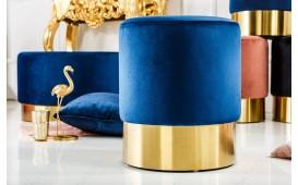 Tabouret Design ROCCO BLUE GOLD 35 cm