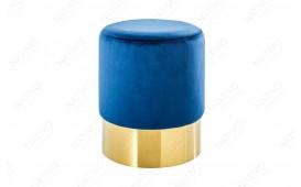 Pouf di design ROCCO BLUE GOLD 35 cm