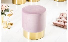 Designer Sitzhocker ROCCO LILA GOLD 35 cm