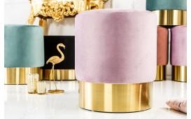 Designer Sitzhocker ROCCO LILA GOLD 35 cm NATIVO™ Möbel Schweiz