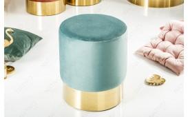 Designer Sitzhocker ROCCO MINT GOLD 35 cm NATIVO™ Möbel Schweiz