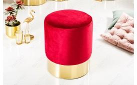 Designer Sitzhocker ROCCO RED GOLD 35 cm