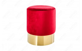 Designer Sitzhocker ROCCO RED GOLD 35 cm NATIVO™ Möbel Schweiz