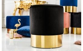 Designer Sitzhocker ROCCO BLACK GOLD 35 cm NATIVO™ Möbel Schweiz