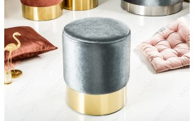 Tabouret Design ROCCO SILVER GOLD 35 cm