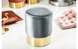 Pouf di design ROCCO SILVER GOLD 35 cm