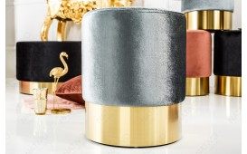 Designer Sitzhocker ROCCO SILVER GOLD 35 cm NATIVO™ Möbel Schweiz
