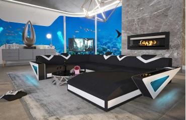 Canapé Design FALCO XXL avec éclairage LED & port USB