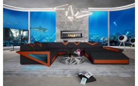 Designer Sofa FALCO XXL mit LED Beleuchtung & USB Anschluss NATIVO™ Möbel Schweiz