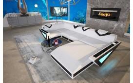 Divano di design FALCO XL con illuminazione a LED e presa USB
