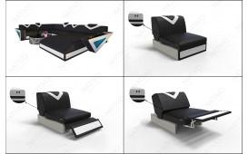 Designer Sofa FALCO CORNER mit LED Beleuchtung & USB Anschluss NATIVO™ Möbel Schweiz