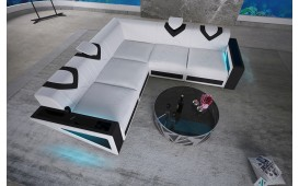 Canapé Design FALCO CORNER avec éclairage LED & port USB