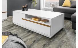 Designer Couchtisch PORTION WHITE 115 cm