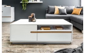 Table basse Design PORTION WHITE 115 cm