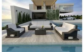 Lounge Set en rotin MIRAGE 3+2+1
