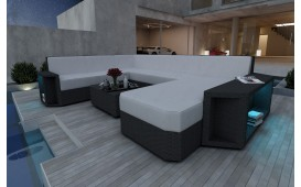 Canapé Lounge en rotin AVENTADOR XXL