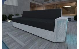 Canapé 3 places en rotin AVENTADOR