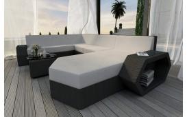 Canapé Lounge en rotin CLERMONT XXL