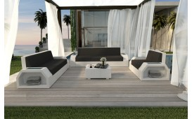 Lounge Set en rotin CLERMONT 3+2+1