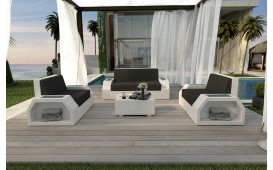 Set Lounge CLERMONT 2+1+1 in rattan