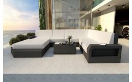 Canapé Lounge en rotin MESIA XXL