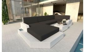 Canapé Lounge en rotin MESIA XL