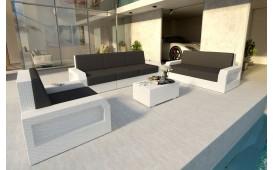 Lounge Set en rotin MESIA 3+2+1