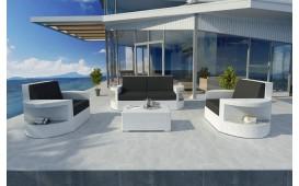 Set Lounge ATLANTIS 2+1+1 in rattan