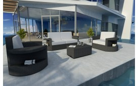 Lounge Set en rotin ATLANTIS 2+1+1