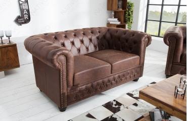 Sofa CHESTERFIELD  VINTAGE / 2 Sitzer NATIVO™ Möbel Schweiz