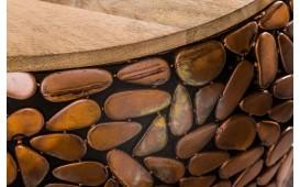 Table basse Design BLOCK GOLD SET 2 NATIVO™ Möbel Schweiz