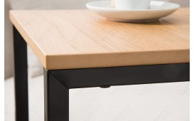 Table d'appoint Design SIMPO 60 cm BLACK OAK NATIVO™ Möbel Schweiz